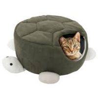 Cueva para gatos con forma de tortuga